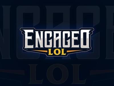 EngagedLoL typography design vector branding logo