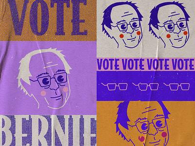 Vote Bernie elections 2020 democrat graphic designer campaign politics bernie sanders illustration graphic poster a day graphic design poster design