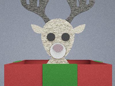 Reindeer octane c4d 3d present gift reindeer felt cinema 4d christmas