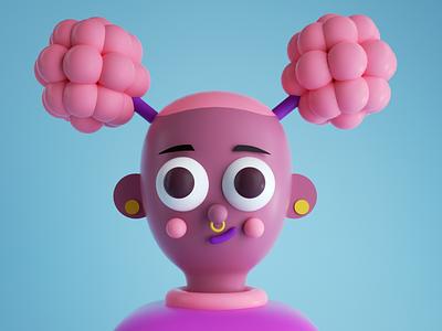 PYNK graphic illustration girl c4d character design design octane render 3d cinema 4d pynk