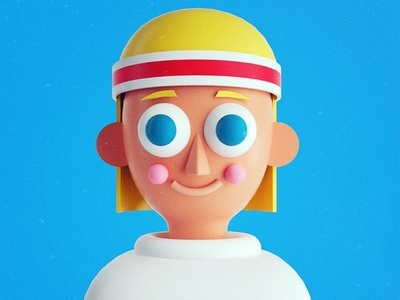 70's Skater Boy illo graphic design illustration character design render octane c4d cinema 4d 3d