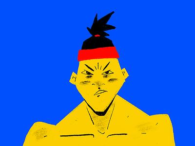 Tough Punk character design drawing sketch doodle japanese ipad procreate illustration