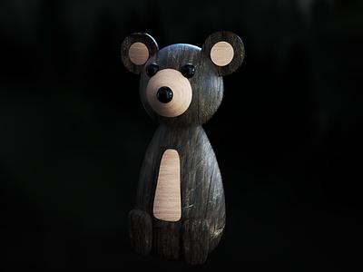 Toy Bear nature bear product shot toy 3d octane render render c4d cinema 4d