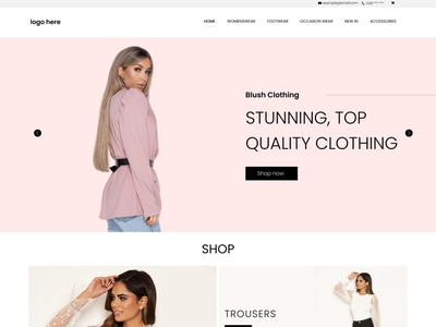 Ladies Boutique E-commerce website slider design illustration designer branding web