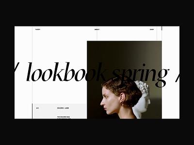 Lookbook spring 👜 design typography shop lookbook website homepage animation ux ui