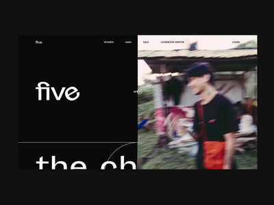 Five 🛹 shop outfits design logo clean website typography animation homepage ux ui