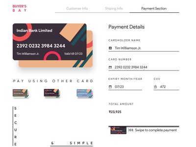 Payment page payment gateway website design debit card credit card payment page modern white design web design user interface user experience hire freelance figma concept design graphic design simple clean