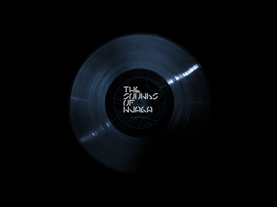 The Sounds of Njaga logo typography golden record vinyl record design branding