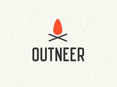 Outdoor Clothing Logo outdoors outdoor vintage logo clean topography orange fire clothing branding logo design