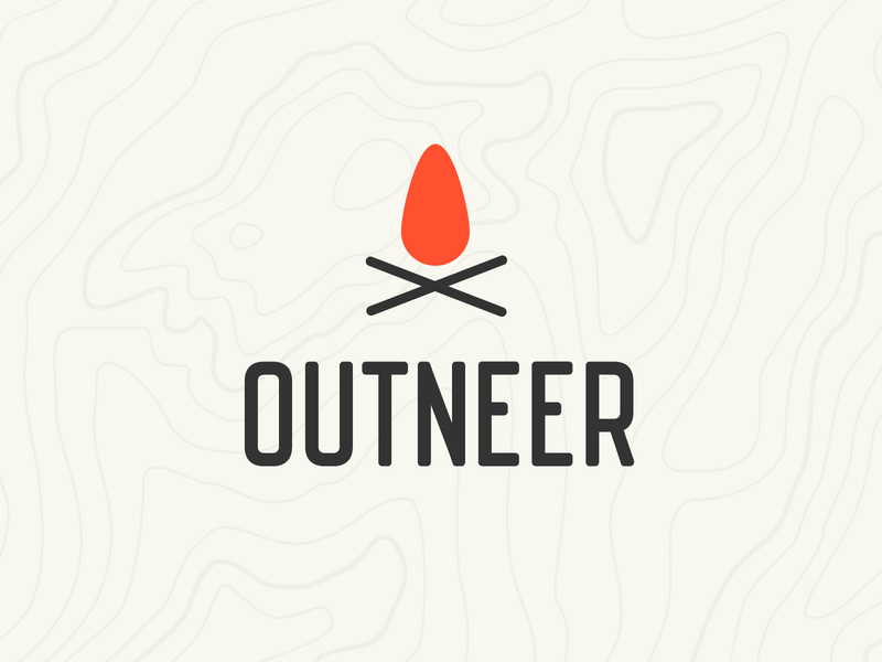 Outdoor Clothing Logo outdoors outdoor vintage logo clean topography orange fire clothing branding logo design