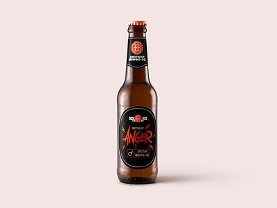 Knockout Brewing Co. - Bottled Up Anger, EIPA 6,6% knockout bottle anger craftbeer beer ipa design branding