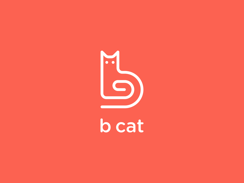 b cat line art logo cat logo designs cat b logo letter b logo cat logo feminime logo catchy logo modern logo clean logo simple logo design unique logo simple logo logo logos logo design