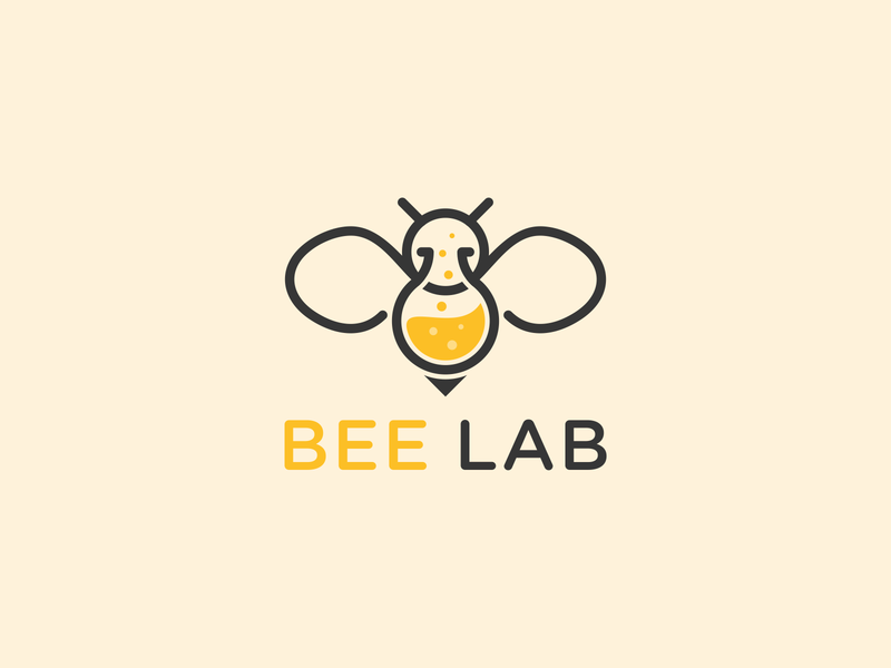 Bee Lab Logo animal logo line art logo combination logo lab logo bee logo animals logo feminime logo catchy logo modern logo clean logo simple logo design unique logo simple logo logos logo design logo