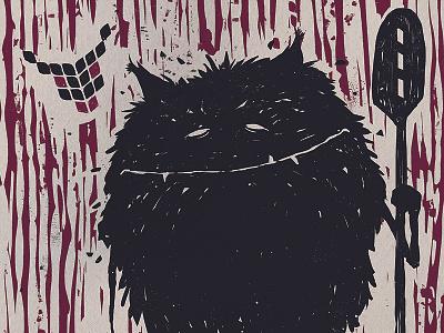 Hiisi-illustration illustration ink engraving digital color beer character design