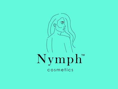 Nymph cosmetics branding line art brand identity minimalist logo 2d brand design logo design