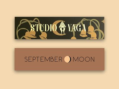 Website Banner icon content creation branding design illustration banner illustration baba yaga moon logo logo design logo bank banner design banner