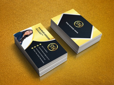 Modern Business Card business card mockup illustration creative business card modern business card business card template business card design business card