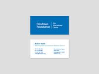 Friedman Foundation Stationery Set