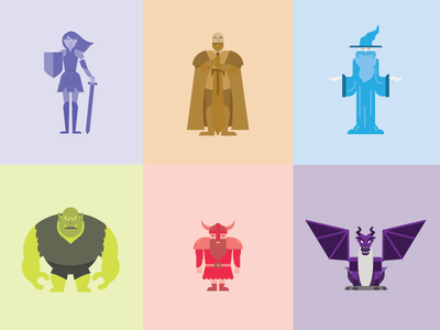 Digital Dungeons and Dragons characters magic orc dwarf elf knight wizard dungeons and dragons