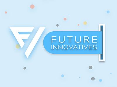 Future Innovatives logo design ui website design branding vector web logo design logo