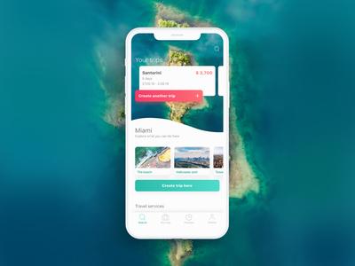 Your Travel Planner travelling ios trip travel app travel app ui