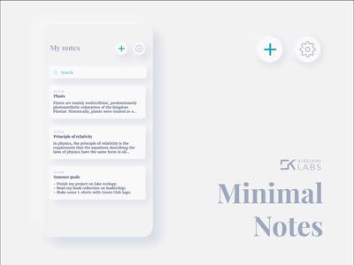 Minimal Notes pwa notes app notes skeuomorphism dark mode dark dark ui animation app ui