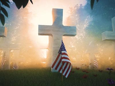 Happy Memorial Day c4d octane dailyrender