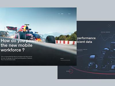 Redbull Racing x Citrix - Website Experience - More screens redbull f1 formula 1 data racing parallax after effects 3d