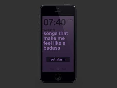Wake Up, powered by Rdio - Set Alarm & Playlist app icon iphone ui design mobile app