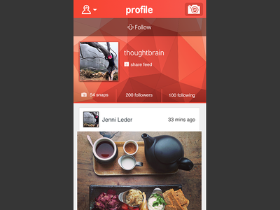 Jamsnap - Profile view: follow user