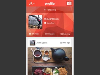 Jamsnap - Profile view: following user