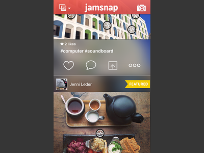 Jamsnap - feed view: scrolled up