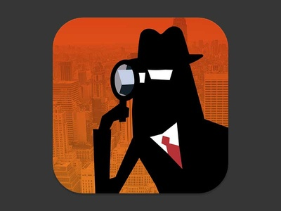 Secret Agent - App Icon iphone app icon secret agent
