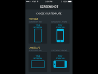 Screenshot app - Choose your template