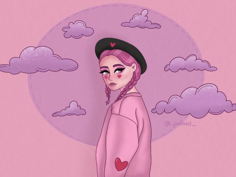 Vanilla girl vanilla pink illustration art digitalart procreate procreateapp illustration design art