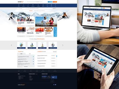SportOS sport ski snow snowboard layout fresh new modern web design responsive