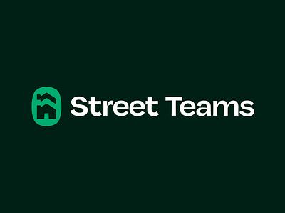 Street Teams Logo street houses vulf typography vector branding design icon logo