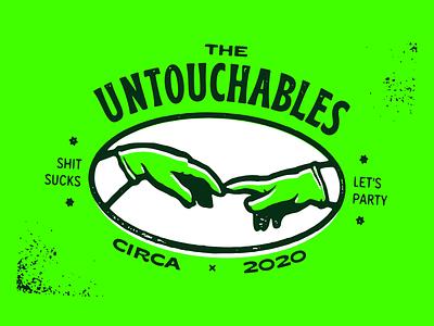 Untouchables staysafe covid vector illustration design