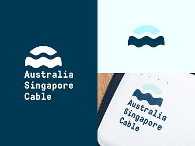 Australia Singapore Cable sunrise pressura logo sun sea ocean waves cable singapore australia