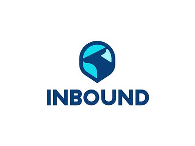Inbound animal logo bound bounce direction point pin roo kangaroo