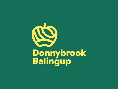 Donnybrook Balingup Inverted donnybrook balingup apple river fields hills leaf town shire logo