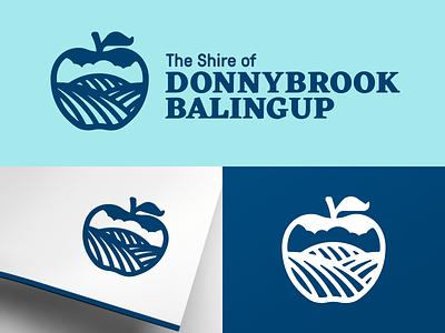 Donnybrook Balingup logo shire town leaf hills fields apple donnybrook