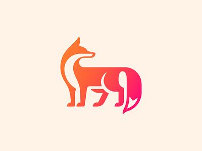 Nine Tail Mark ninetales 九尾狐 animal logo nine-tail chinese spirit fox
