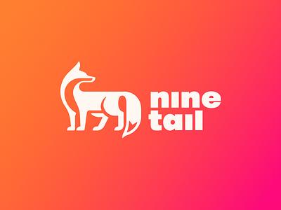 Nine Tail Logo ninetales 九尾狐 animal logo nine-tail chinese spirit fox