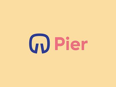 Pier Logo grid-system framework toolkit sass pier jetty logo dock simple thick horizon brand
