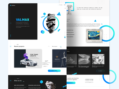 Valmax digital | Corporate website uidesign trends uiux interface art flat figma concept digital vector minimal web logo animation website ui ux design branding