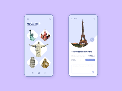 "Mobile App — ""Traveling"" design travel mobile design mobile ui mobile app mobile"