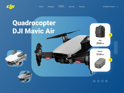 Quadrocopter / Home page web design webdesign product interface design ui quadrocopter