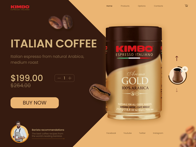 Home page / COFFEE desing barista coffee design homepage website