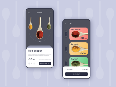 Mobile APP / Spices spices design mobile app mobile